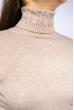 Гольф женский комбинированной вязки 120PZEL011 бежевый меланж