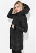 Пальто женское с капюшоном 154V002 горчичный