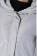 Пальто женское с капюшоном 154V002 стальной