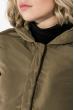 Пальто женское с капюшоном 154V002 хаки