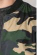Бомбер мужской милитари 147V001 горчично-зеленый