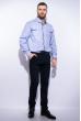 Рубашка в мелкую полоску 199P0682 голубо-белый