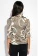 Рубашка женская с принтом Вензеля  81P0093 кремовый , вензеля