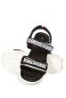 Босоножки женские 11P705 серо-черный