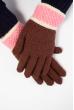 Перчатки  202P007 коричнево-розовый