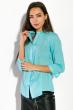 Рубашка женская, прямого покроя  64PD338-1 морская волна