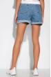 Джинсовые шорты с вышивкой 162P7782 светло-синий
