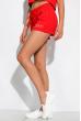 Костюм женский однотонный с надписью 151P010-1 красный