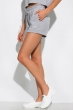 Костюм женский однотонный с надписью 151P010-1 светло-серый меланж