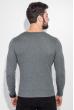 Пуловер мужской фактурный узор 50PD3421 светло-серый