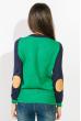 Свитер женский двухцветный 824K001 сине-зеленый