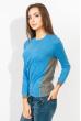 Свитер женский двухцветный 824K001 серо-голубой