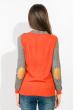 Свитер женский двухцветный 824K001 серо-морковный