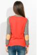 Свитер женский двухцветный 824K001 серо-оранжевый