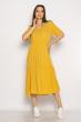 Однотонное платье свободного кроя 632F009 горчичный