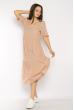 Однотонное платье свободного кроя 632F009 пудровый