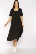 Однотонное платье свободного кроя 632F009 черный
