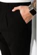 Брюки с манжетом на молнии и резинке 161P2005 черный