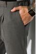 Брюки с манжетом на молнии и резинке 161P2005 серый
