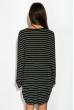 Платье 120PFA186 черно-белый