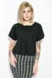 Блуза женская, короткий рукав, однотонная  19PL146 черный