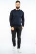 Пуловер в мелкий принт 604F002 темно-синий