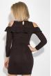 Платье женское с открытыми плечами и рюшами  64PD278 шоколадный