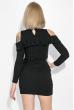 Платье женское с открытыми плечами и рюшами  64PD278 черный
