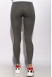Лосины женские спортивные с лампасами 611F001 графит / белый