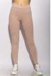 Лосины женские спортивные с лампасами 611F001 пудрово-белый