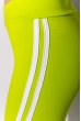 Лосины женские спортивные с лампасами 611F001 лайм-белый