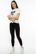 Лосины женские спортивные с лампасами 611F001 черно-бордовый