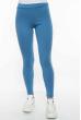 Лосины женские спортивные с лампасами 611F001 голубо-белый