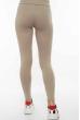 Лосины женские спортивные с лампасами 611F001 светло-бежевый / белый