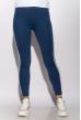 Лосины женские спортивные с лампасами 611F001 сине-белый