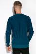 Джемпер мужской  520F026 тонкий сине-бирюзовый