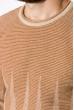 Джемпер мужской  520F026 тонкий светло-коричневый / бежевый
