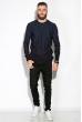 Джемпер мужской  520F026 тонкий джинс / темно-синий