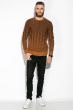 Джемпер мужской  520F026 тонкий чернильный / светло-коричневый
