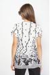 Блуза женская из хлопка 118P296-1 бело-черный