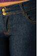 Джинсы женские чернильные, прямые 19PL111-1 темно-синий
