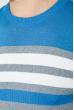Свитер мужской в полоску 48P3299 васильково-серый