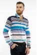 Рубашка в полоску 11P410 бело-синий
