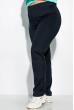 Костюм спортивный с цветочным принтом 120PMO6017-4 бирюзово / темно-синий