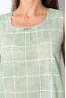 Женский костюм в клетку 120PMB027 оливковый