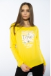 Лонгслив женский с принтом 85F10154-1 LOVE желтый