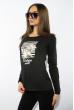 Лонгслив женский с принтом 85F10154-1 LOVE черный
