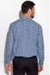 Рубашка в клетку 511F041 черно-голубой