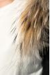 Жилет женский с мехом на плечах 69PD725 молочный
