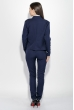 Костюм женский (брюки, пиджак) деловой, в стильных оттенках 72PD155 темно-синий